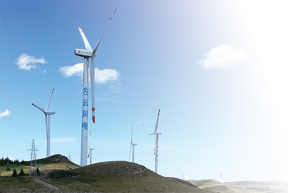 The project of 1.5MW wind power generator towers for Datang Zuoyun company