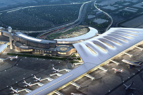 The project of footwalk corridor of terminal 2 in Nanjing Lukou International airport